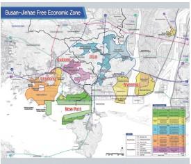 부산 진해 경제 자유 구역청과 외국인 전용 지역에 대한 홍보