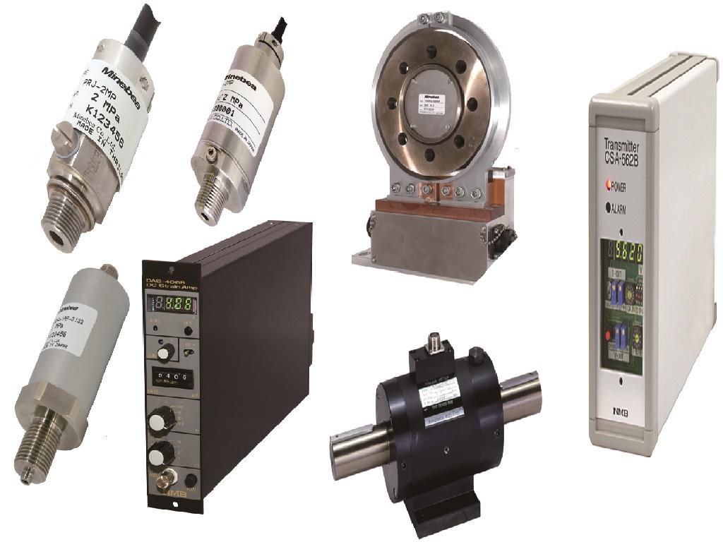 스트레인 게이지, 로드셀, 토크미터, 압력센서, 스트레인 앰프, 인디게이터, 금형 내압 측정 시스템 등