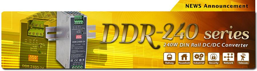 DDR-240 Series(240W DIN Rail DC/DC Converter)