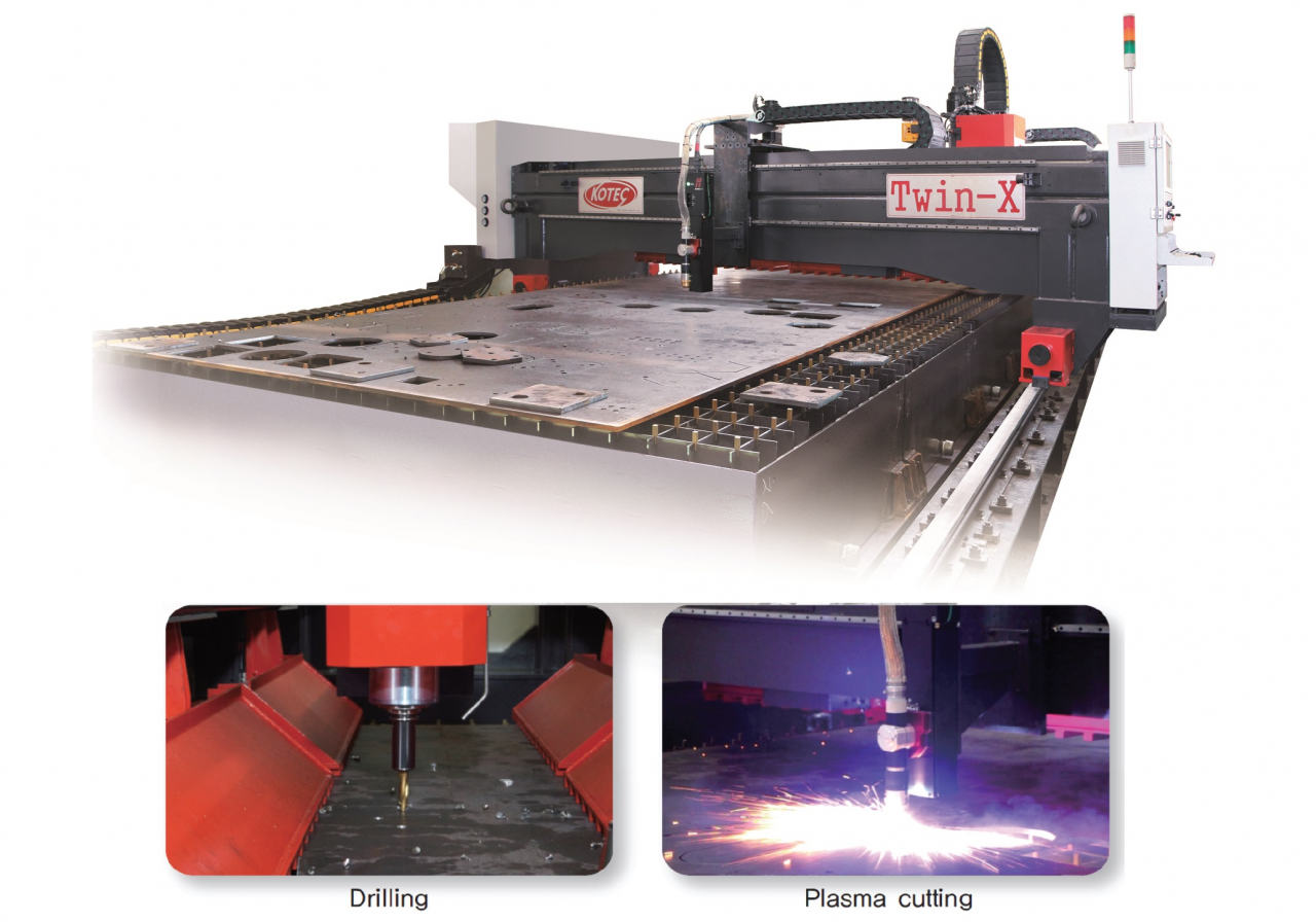 STEEL PLATE DRILLING & PLASMA CUTTING MACHINE