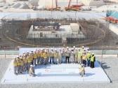 한전, UAE원전 3호기 최초 콘크리트 타설