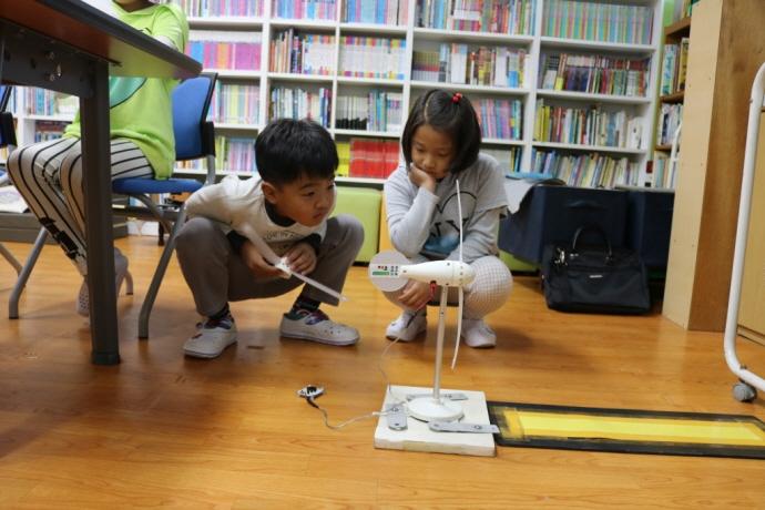 전교생 3명의 안산 풍도분교를 찾은 에너지학교