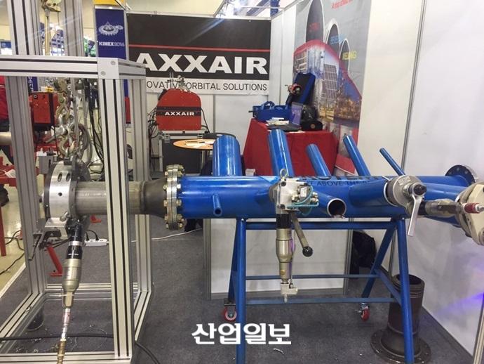 엑서아시아, 45초 만에 베벨 가능한 절단기계 출품