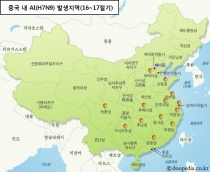 중국 AI(조류인플루엔자) 인체감염 사례 급증