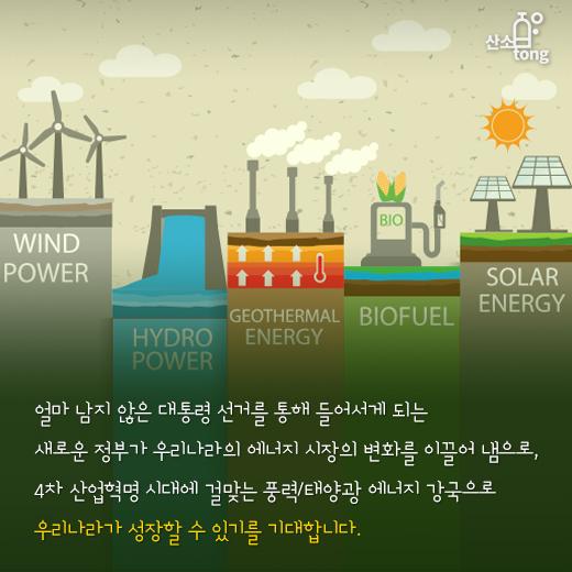 [카드뉴스] 에너지시장, 재생에너지 위주로 재편