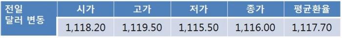 트럼프 정부에 대한 불확실성으로 오늘 원-달러 환율 1,110원대 초중반 하락 전망