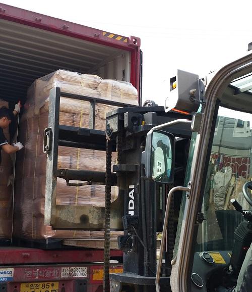 (주)코스모스, 냉동기법으로 스틸코드 분리고무 해외 수출