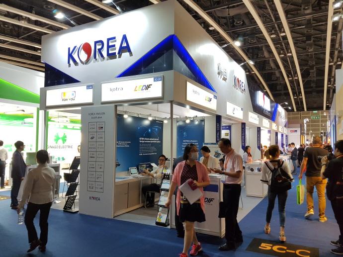 홍콩 추계 조명 박람회에 한국관 구성 참가