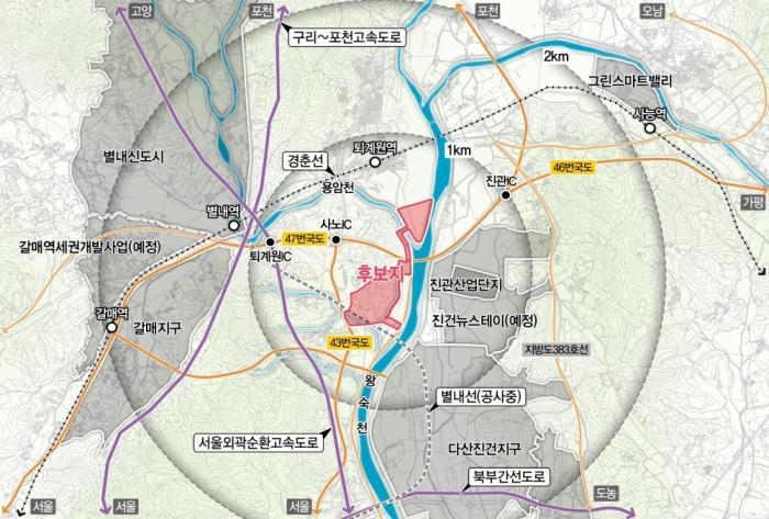 경기도, 북부2차 테크노밸리 조성지 선정완료