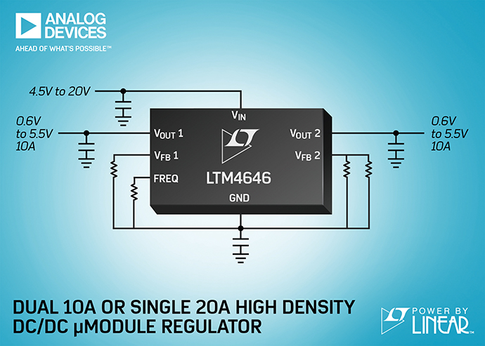 아날로그디바이스, Power by Linear™ LTM4646 - 다아라매거진 제품리뷰