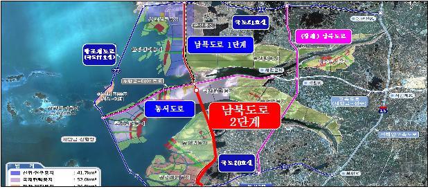 새만금 남북도로 2단계 건설 공사 시행 본격화