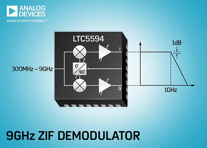 아날로그디바이스, ZIF(zero-IF) 디모듈레이터LTC5594 - 다아라매거진 제품리뷰