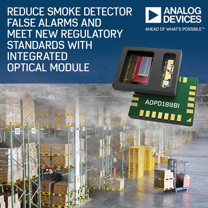 아나로그디바이스 , 연기 감지 경보 오작동을 줄이는 새로운 통합 광학 모듈 출시 - 다아라매거진 제품리뷰