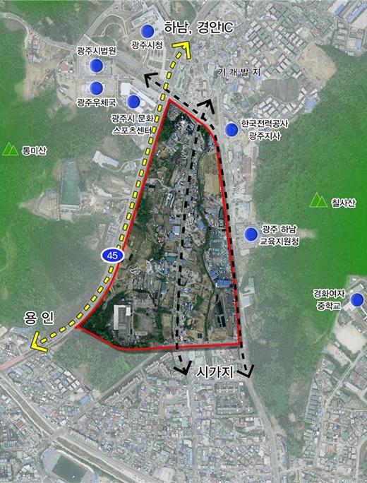 경기 광주 송정지구 28만여㎡규모 도시개발사업 실시계획 인가