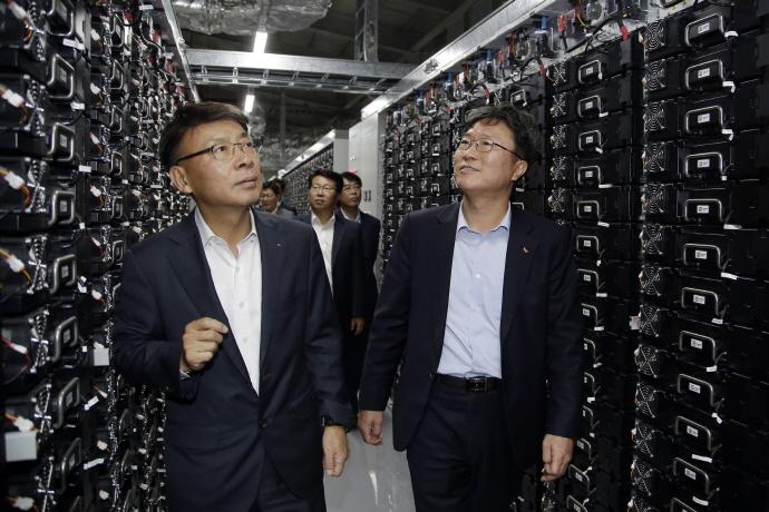 [포토] 두산중공업&SK E&S, 창원공장에 70MWh 규모 에너지저장장치(ESS) 준공