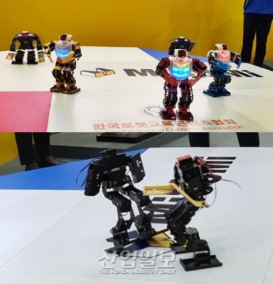 [포토뉴스] 국제자동화정밀기기전에서 격투 벌이는 로봇들