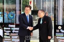 [포토뉴스] 판교테크노밸리 방문한 北 대표단