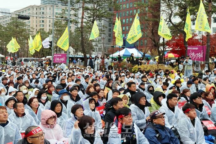 [포토뉴스] 총파업에 돌입한 민주노총 조합원들