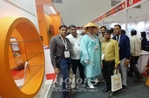 [IMTEX 2019] 인도 공작기계 전시회에 등장한 '삿갓맨'