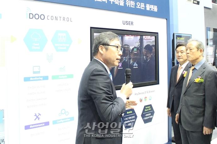 """[인터몰드 2019] 두산공작기계 """"수요를 떠나서 국내 시장 수성 나선다"""""""