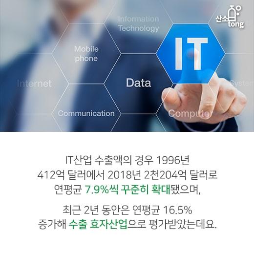 [카드뉴스] 국내 수출 책임졌던 IT산업, 반도체 부진에 '휘청'