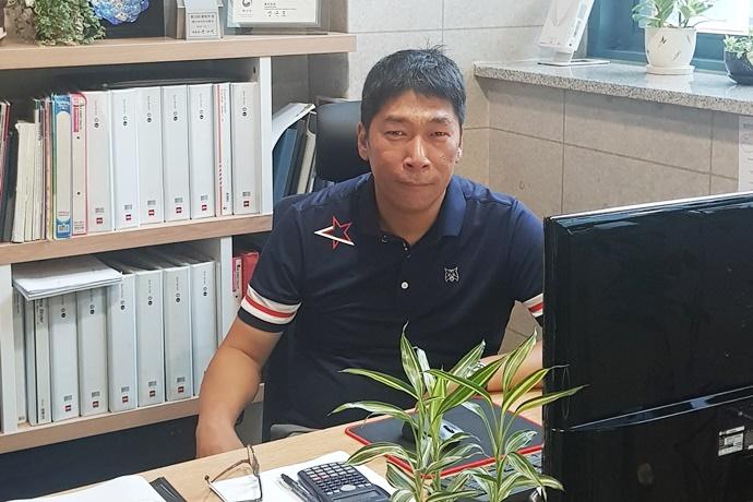 """[2019 한국기계전] 케이씨이주식회사, """"특별하지 않으면 살아남기 힘들다"""""""