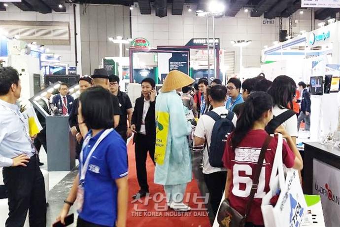 [포토뉴스] 산업다아라 삿갓맨, 이번에는 태국전시회 등장
