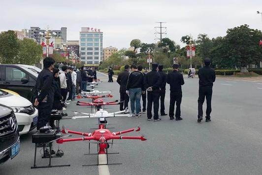 중국 우한 신종 코로나바이러스 확산 방지에 드론(DRONE)도 한 몫
