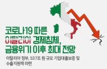 [카드뉴스] 코로나19 따른 이탈리아 경제침체, 금융위기 이후 최대 전망
