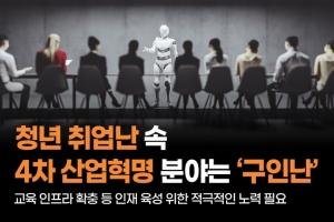 [카드뉴스] 청년 취업난 속 4차 산업혁명 분야는 '구인난'