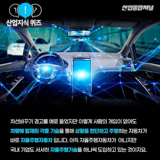 [산업지식퀴즈]자율주행차의 핵심기술은? - 산업종합저널 산업지식퀴즈