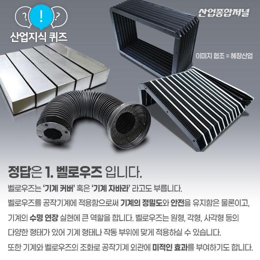 [산업지식퀴즈]공작기계 보호커버는? - 산업종합저널 산업지식퀴즈