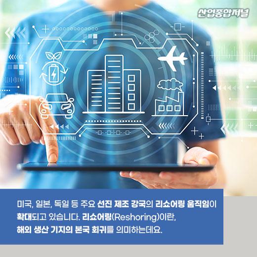 [카드뉴스] 선진 제조 강국, 제조업 기술혁신으로 리쇼어링 확대 - 산업종합저널 동향