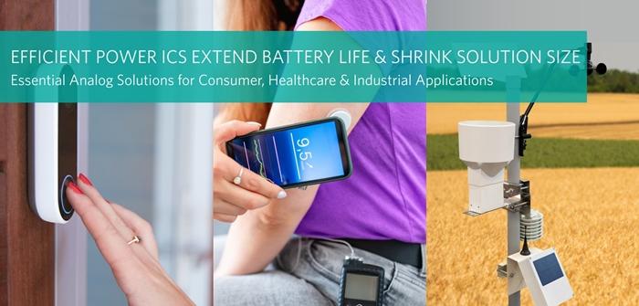 산업·의료용 IoT 기기 배터리 수명 연장 에센셜 아날로그 이피션트 파워 IC 3종 - 산업종합저널 전자