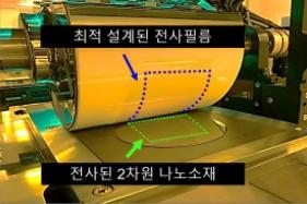 원자층 두께의 2차원 나노소재, 웨이퍼사이즈로 찍어낸다