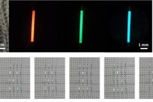 디스플레이 구동 가능한 OLED 전자 섬유 개발