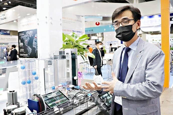 """[코리아팩 2021] 인아(INA)그룹 """"스마트 팩토리 확대, 중소기업에 맞춘 시스템 필요"""""""