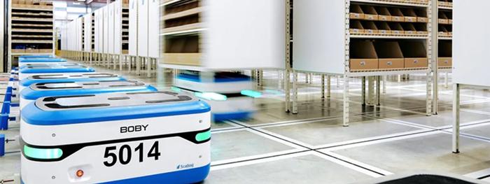 [현장적용사례] 액추에이터 통해 선반 들어 올리는 Scallog 로봇 - 산업종합저널 로봇