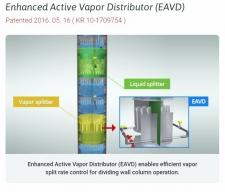 Enhanced Active Vapor Distributor (EAVD) / Distillation Engineering